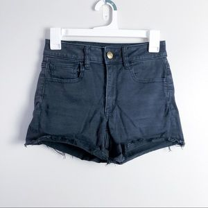 American Eagle Sateen High Rise Shortie Shorts